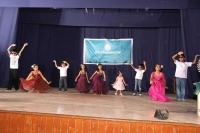 Group dance by children