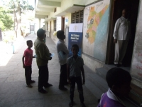 Patients waiting for their turn for eye check-up