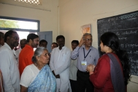 Chief Guests visiting the Ayurveda medicine section at the camp