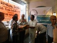RSS Sevak donating Blankets to the care taker on behalf of B.Murlidhar