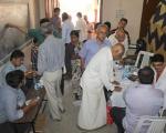 D.B.N.Ravi Kumar attending patients
