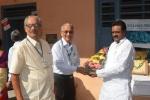 Camp Coordinator Sri. H L Hebbar Felicitating Sri. Diddi Rambabu