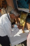 Dr. M Bhaskar Rao  lighting the lamp to mark begning of the camp