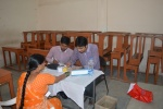 Sugar Testing - Volunteers at work