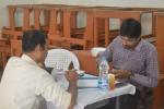 Sugar Testing - Volunteers at work
