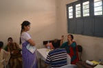 volunteers conducting Eye check-up